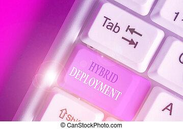 aplicaciones, combinación, foto, texto, híbrido, actuación, onpremises, conceptual, señal, data., deployment., o