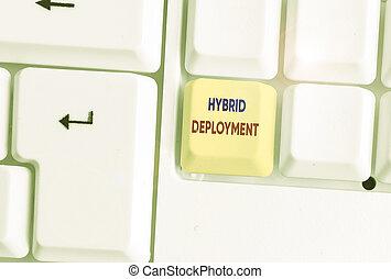 aplicaciones, combinación, texto, híbrido, onpremises, data., deployment., concepto, significado, o, escritura