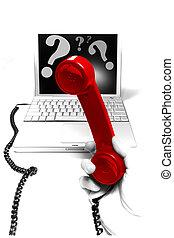 apoyo técnico, hotline