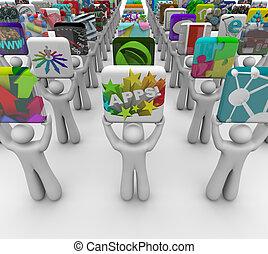 app, apps, venta, presente, promotores, tienda, software