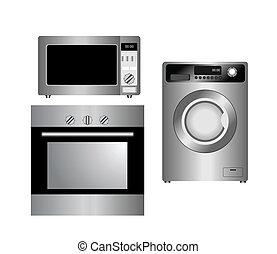appliances., casa, isolated., conjunto