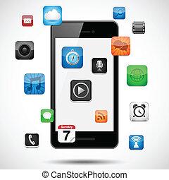 apps, smartphone, flotar