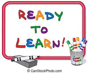aprender, listo, whiteboard