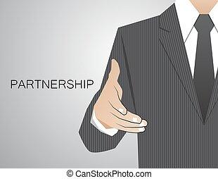 Apretón de manos comunicación de decisión de la corporación