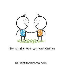 Apretón de manos y comunicación