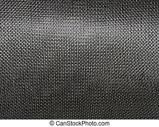 apretado, teja, fibra, tela, carbón
