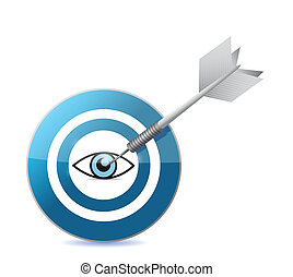 Apunta al diseño de ilustración de los ojos