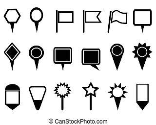 Apuntador y iconos de navegación