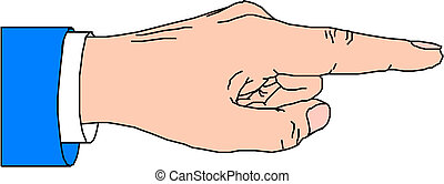 Apuntando el dedo