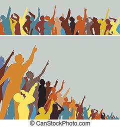 Apuntando multitudes