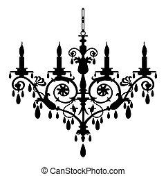 araña de luces, vector, ilustración