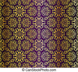 Arabesque púrpura y dorado