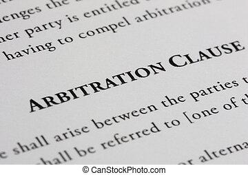 arbitraje, cláusula