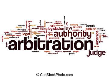 arbitraje, palabra, nube