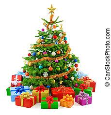 Arbol de Navidad lujo con G colorido
