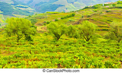 arboledas, viñas, aceituna