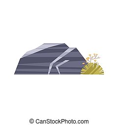 arbusto, rocas