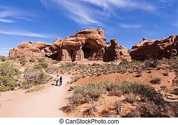 Arches del parque nacional