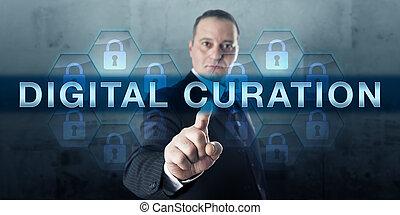 Archivo de información presionando la CURACIÓN DIGITAL