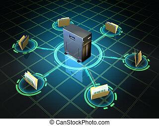 archivo, servidor