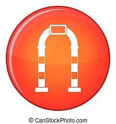 Arco ícono, estilo plano