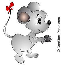 arco, cola, ratón, pequeño