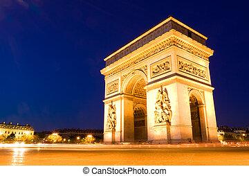 Arco del triunfo. Buenas noches