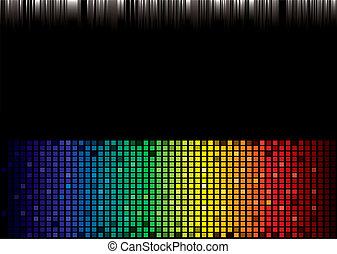 arco irirs, espectro, plano de fondo