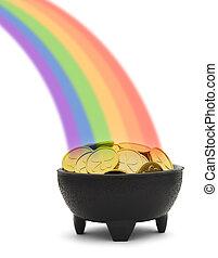 arco irirs, olla, oro