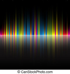 arco irirs, resumen, negro, colores, plano de fondo