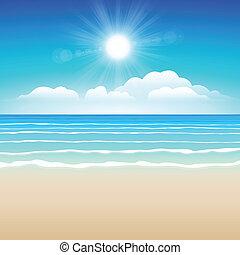 arena, cielo, mar