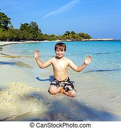 arena de la playa, edificio, juegos, niños, figuras
