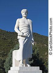 aristotle, grecia, estatua