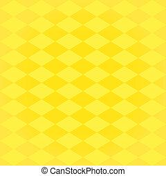 Arlequín sin arlequín, amarillo