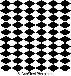 Arlequín sin forma, blanco y negro