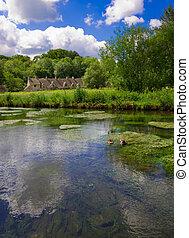 Arlington rema en bibury con Colin, Cotswolds, Gloucestershire, UK