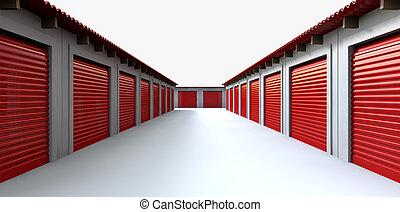 armarios, almacenamiento, perspectiva