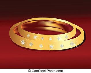 Aros de boda en oro