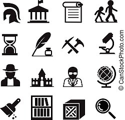 arqueología, historia, iconos, y