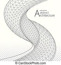 arquitectónico, diseño de edificio, plano de fondo, resumen