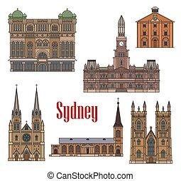 Arquitectura Australia Sydney representa iconos