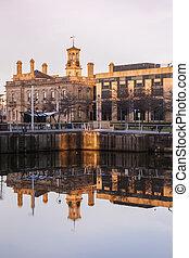 Arquitectura Belfast al amanecer