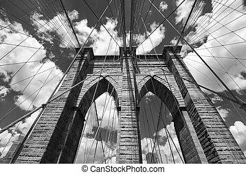 Arquitectura del puente de Brooklyn