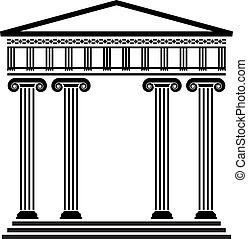 Arquitectura griega vectora