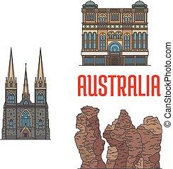 Arquitectura histórica y avistamientos de Australia