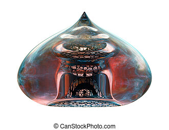 arquitectura, islámico, decorativo, vidrio, detalle, fundido, ornament.