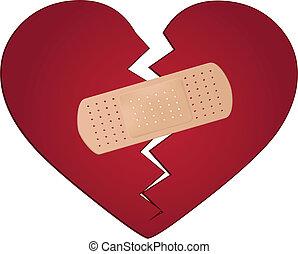 Arreglar un concepto de corazón roto