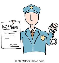 arresto, autorización