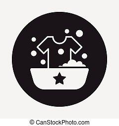 arropa lavarse, icono