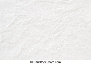 arrugado, textura, papel, plano de fondo, blanco, o